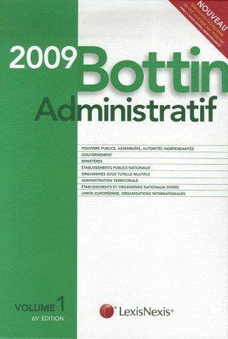 Bottin administratif t.1 (édition 2009)