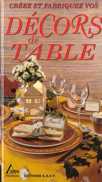 Decors de table