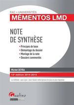 Vente Livre Numérique : Note de synthèse 2014-2015 - 13e édition  - Michel Deyra