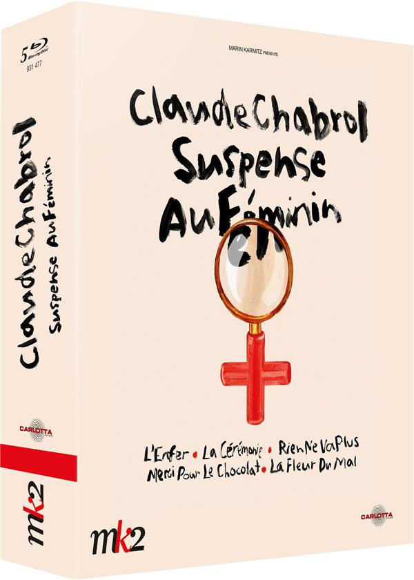 Coffret Claude Chabrol - Suspense au féminin : L'Enfer + La Cérémonie + Rien ne va plus + Merci pour le chocolat + La Fleur du mal