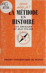 Vente Livre Numérique : La Méthode en histoire  - Jean Tulard - Guy Thuillier