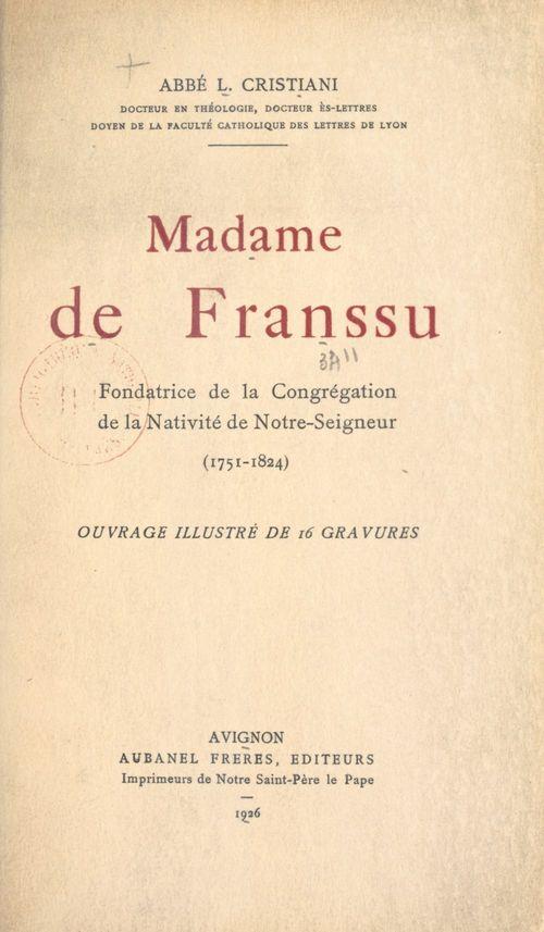 Madame de Franssu