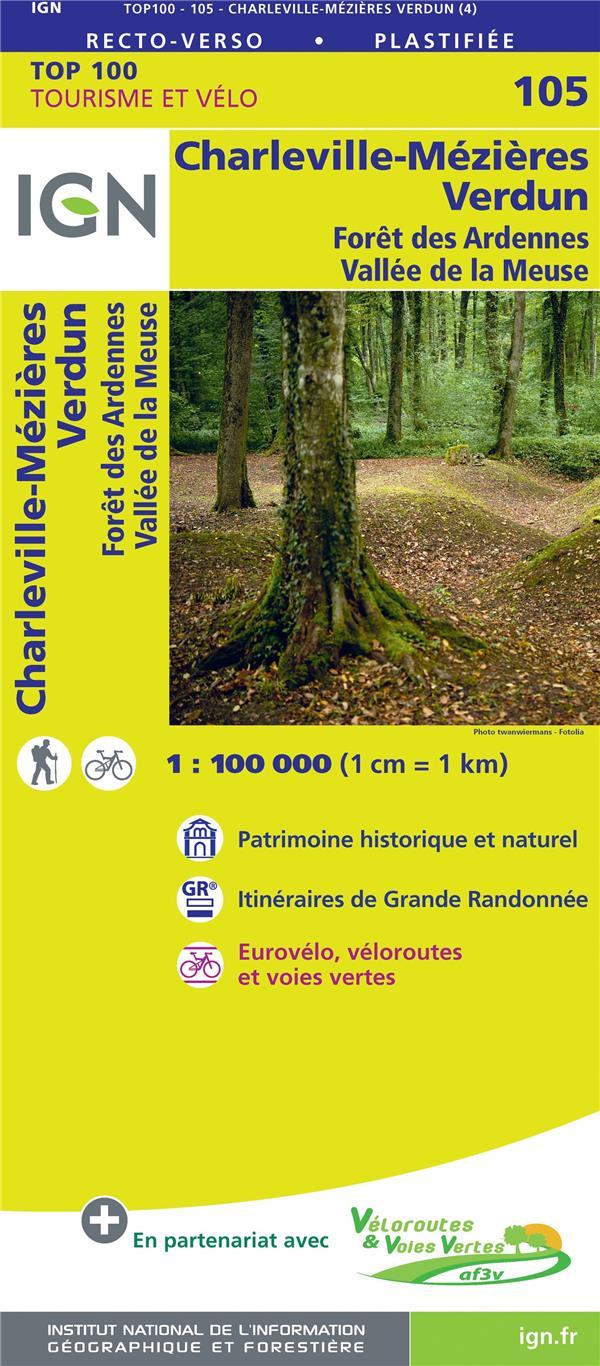 TOP100105 ; Charleville-Mézières, Verdun, forêt des Ardennes, vallée de la Meuse