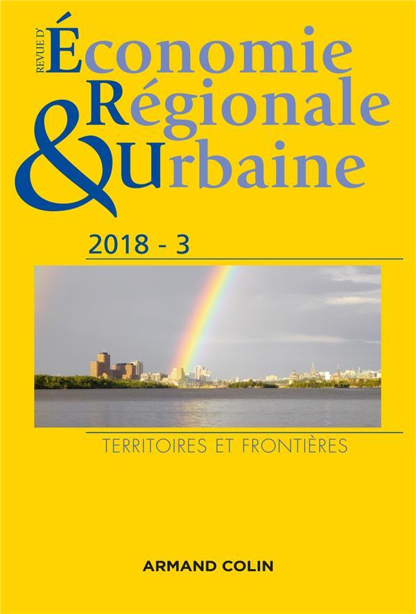 Revue d'économie régionale et urbaine n.3 ; territoires et frontières