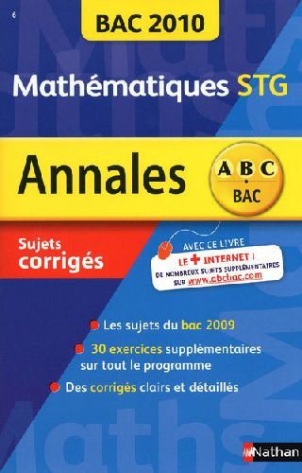 Mathématiques STG ; bac 2010