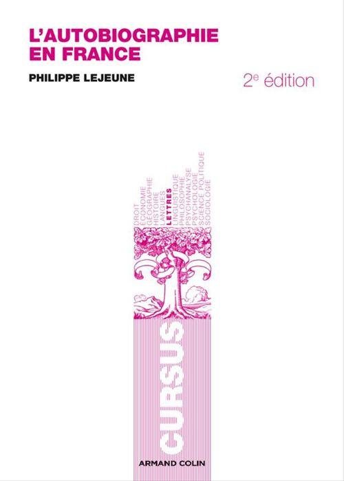 L'autobiographie en France (2e édition)