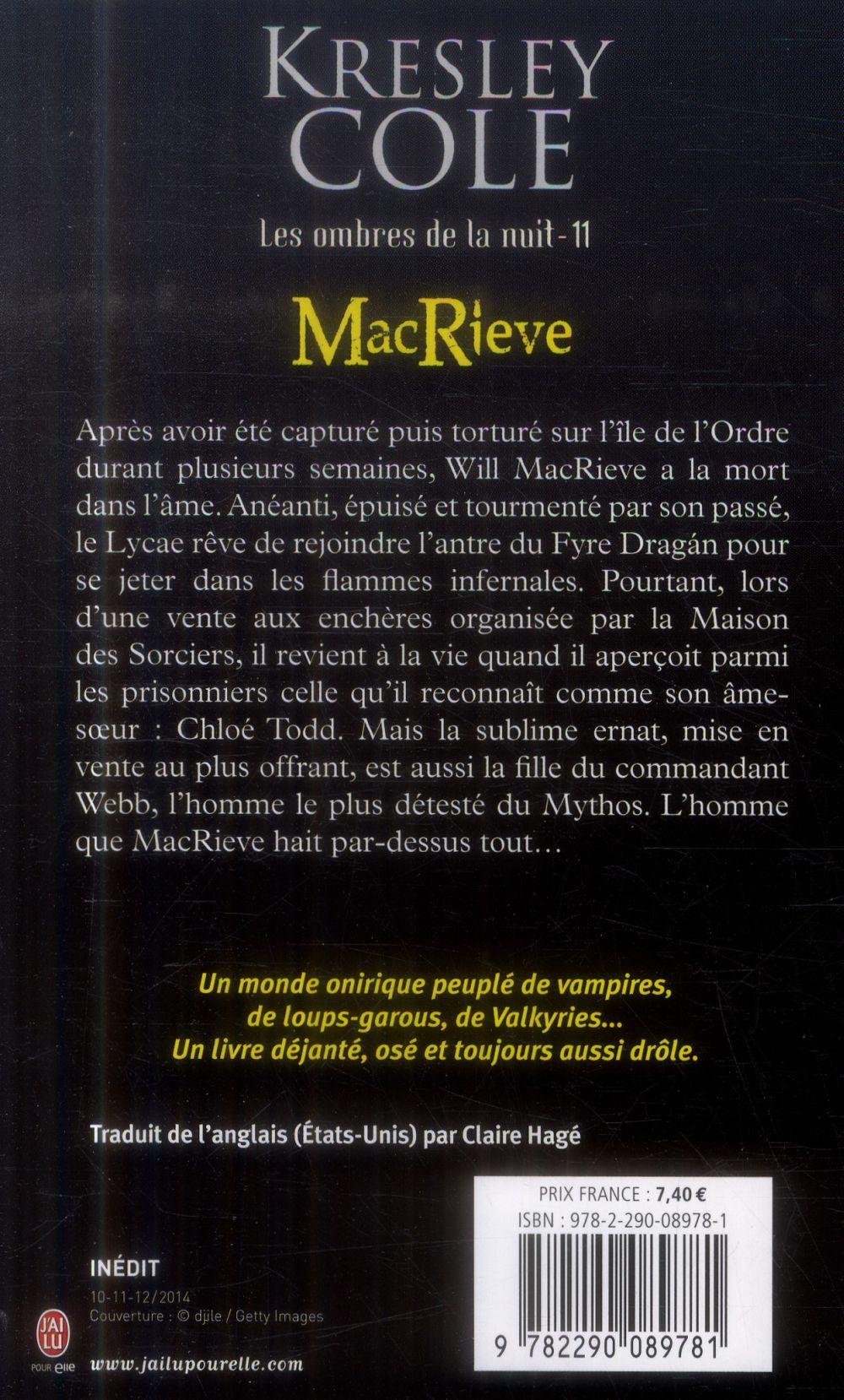 Les ombres de la nuit t.11 ; MacRieve