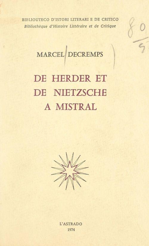De Herder et de Nietzsche à Mistral