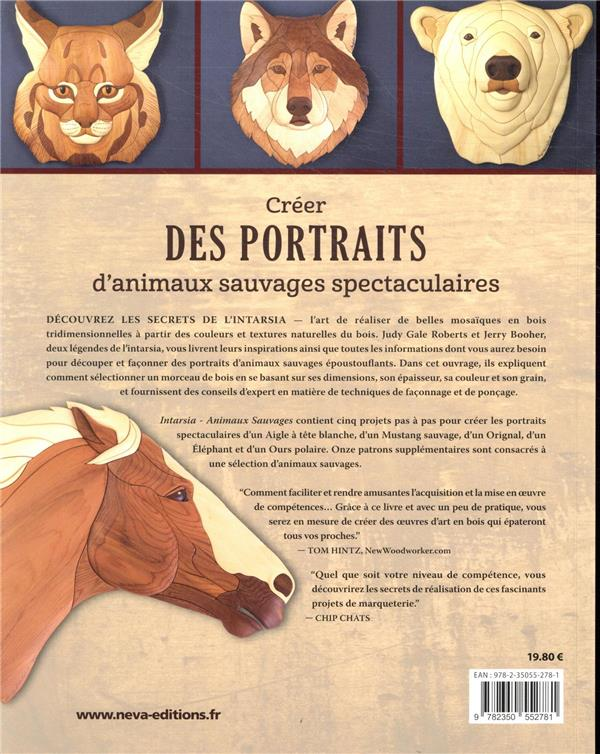 Intarsia ; les animaux sauvages