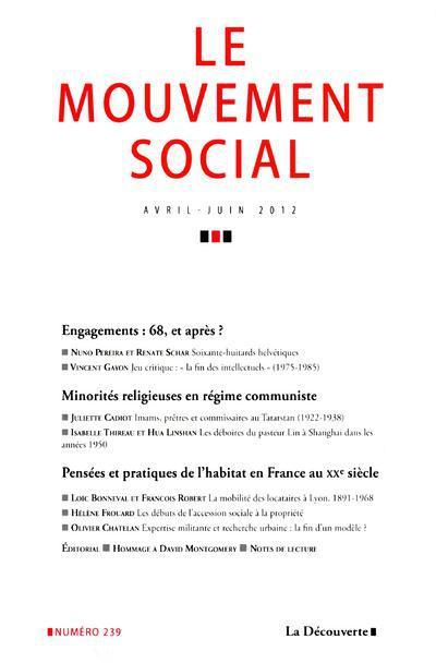 Revue le mouvement social t.239; avril-juin 2012