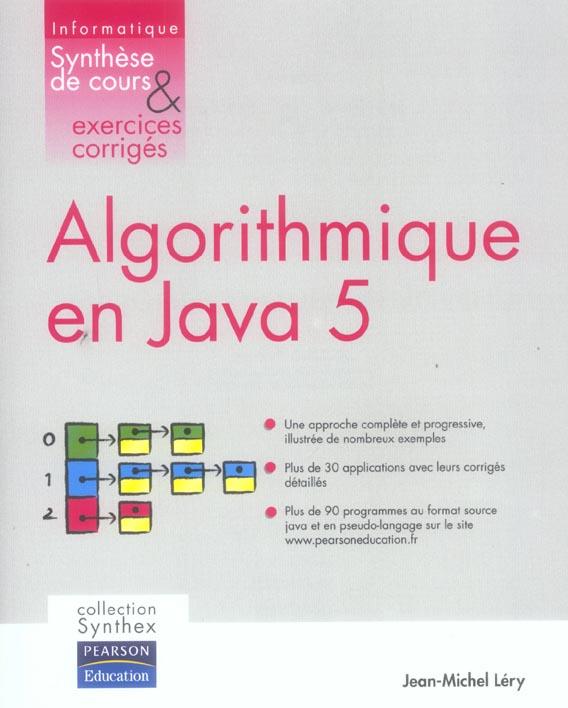 Algorithmique en java 5 synthese de cours & exercices corriges