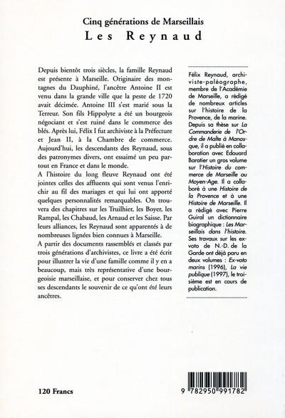 Cinq generations de marseillais : les reynaud