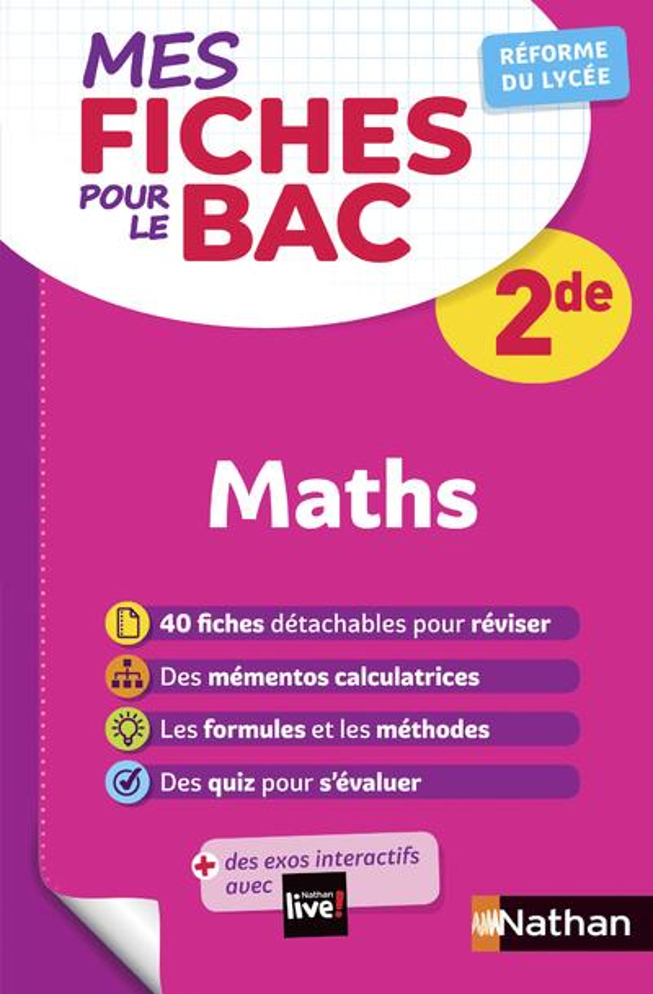 Mes Fiches Abc Du Bac ; Mathematiques ; 2de (Edition 2020)