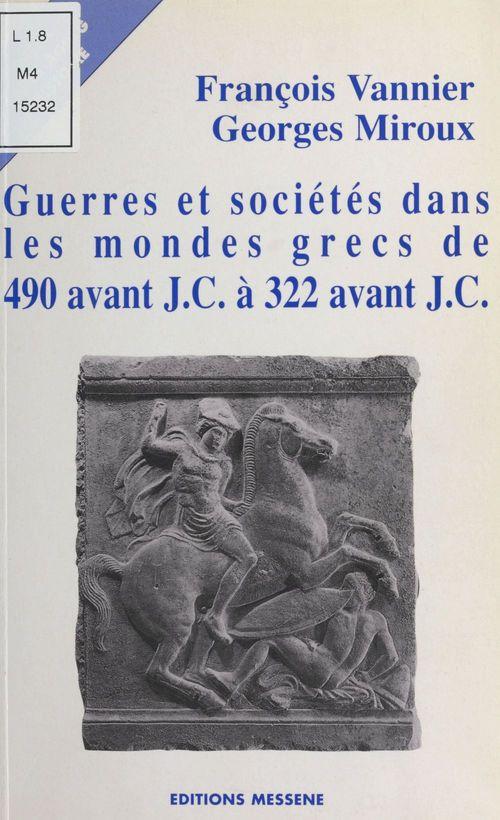 Guerre et societe dans le monde grec