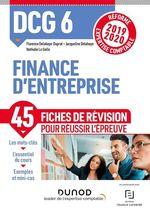 Vente EBooks : DCG 6 Finance d'entreprise - Fiches de révision  - Jacqueline Delahaye - Florence Delahaye-Duprat - Nathalie Le Gallo