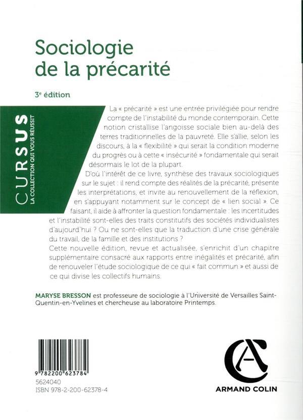 Sociologie de la précarité (3e édition)
