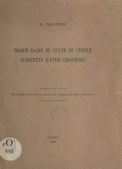Disque sacré du culte de Cybèle