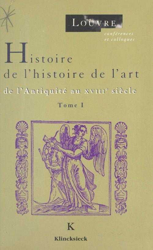Histoire de l'histoire de l'art (1)