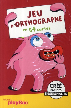 Jeu D'Orthographe En 54 Cartes