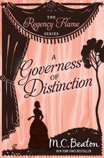 Vente Livre Numérique : A Governess of Distinction  - Beaton M C