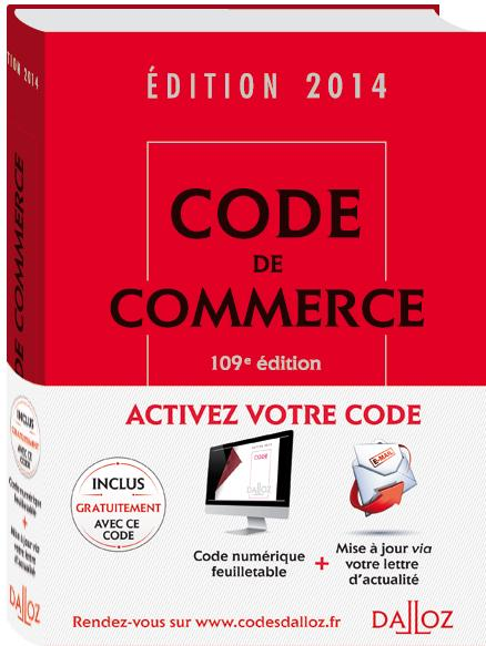Code De Commerce (Edition 2014)