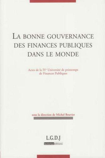 La Bonne Gouvernance Des Finances Publiques