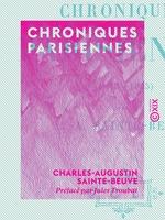 Vente EBooks : Chroniques parisiennes (1843-1845)  - Charles-Augustin SAINTE-BEUVE
