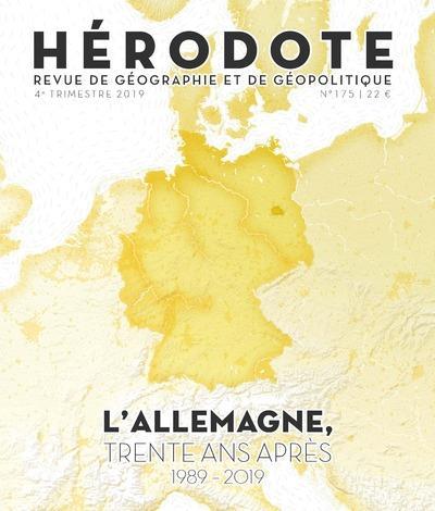 Revue herodote n.175 ; l'allemagne trente ans apres, 1989-2019
