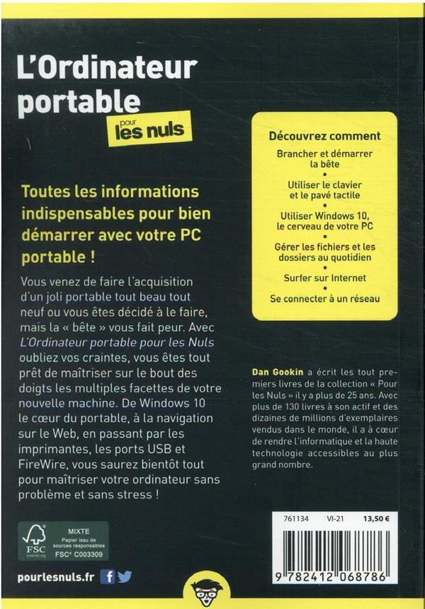 l'ordinateur portable pour les nuls, poche (6e édition)