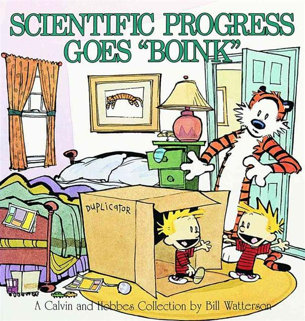 Calvin and Hobbes ; scientific progress goes boink
