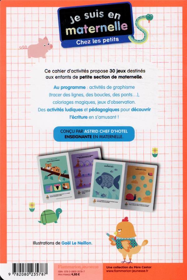 Je suis en maternelle ; mon bloc d'activités : graphisme, coloriages magiques, lettres et mots.... petite section