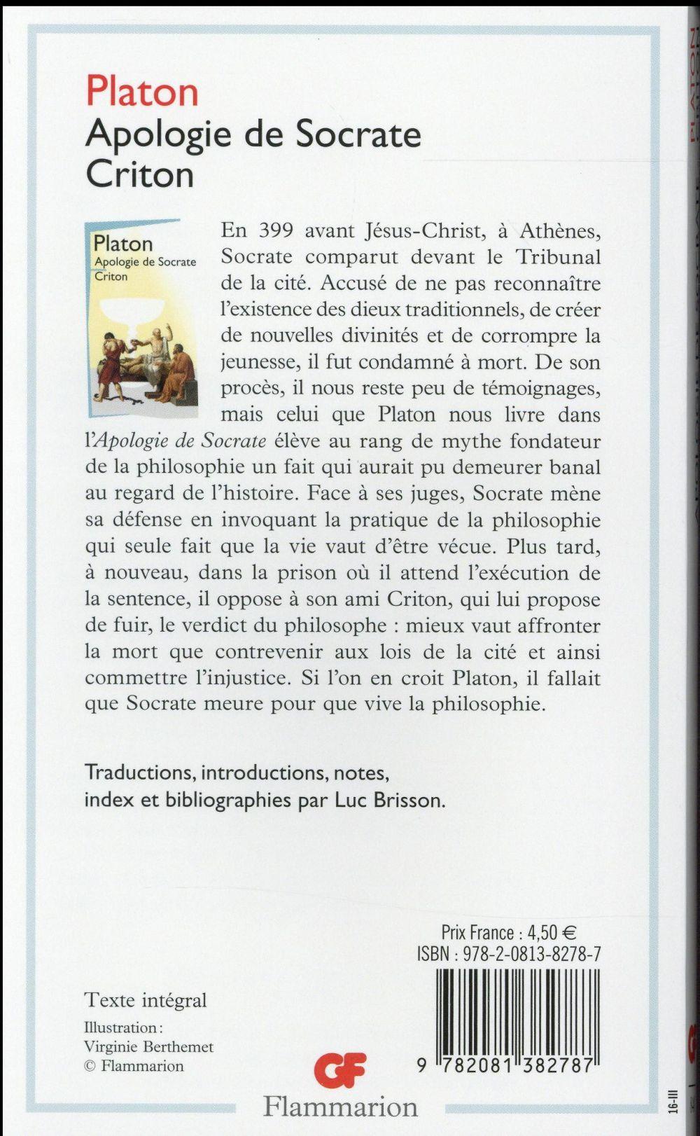 Apologie de Socrate-criton