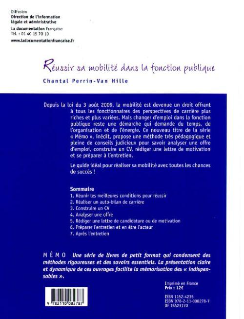 réussir sa mobilité dans la fonction publique ; CV et lettre de motivation