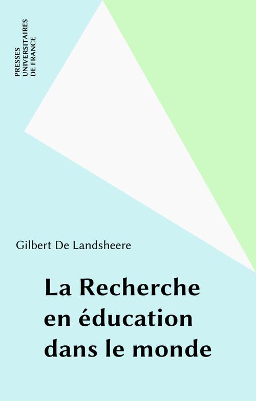 La Recherche en éducation dans le monde