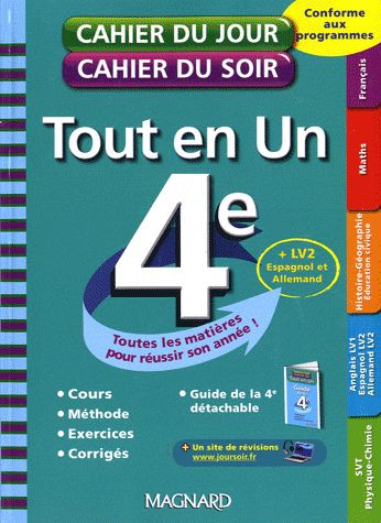 Cahiers Du Jour/ Soir; 4eme ; Tout-En-Un