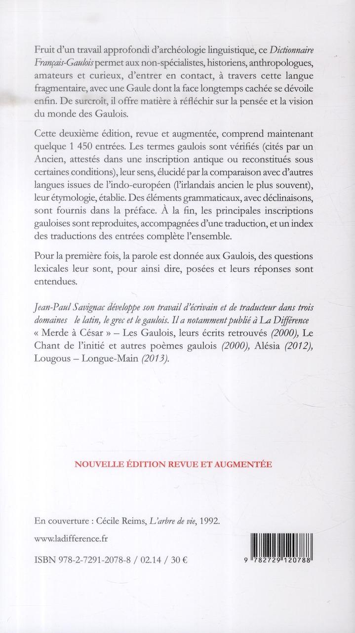 Dictionniare français-gaulois