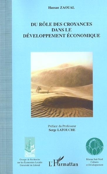 Du Role Des Croyances Dans Le Developpement Economique