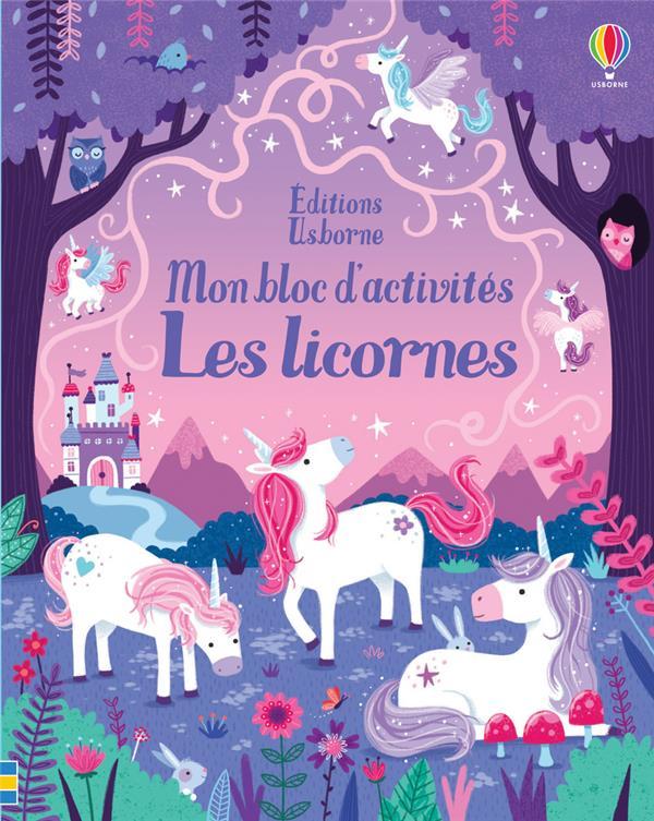 les licornes ; mon bloc d'activités