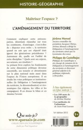 l'aménagement du territoire (16e édition)