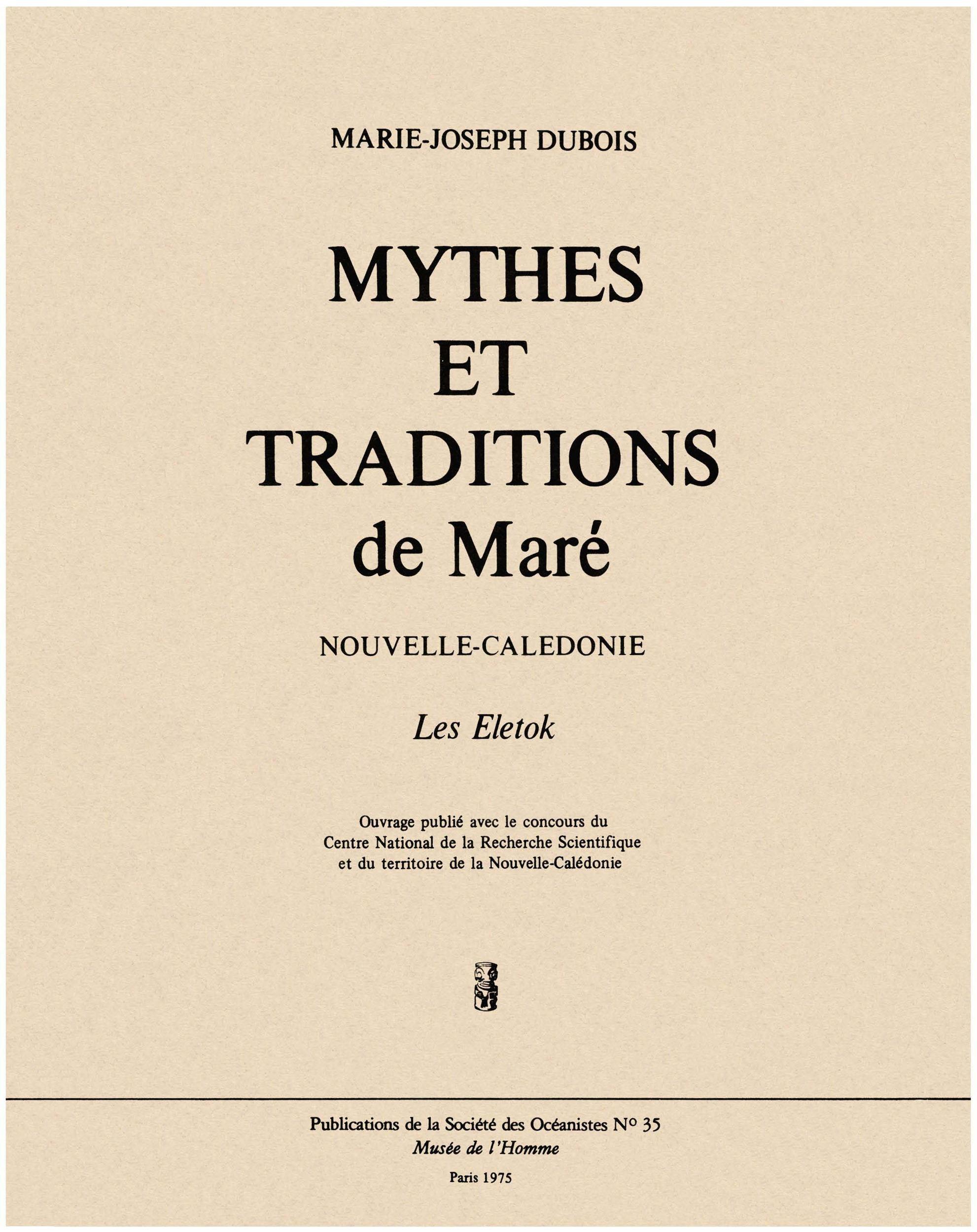Mythes et traditions de Maré
