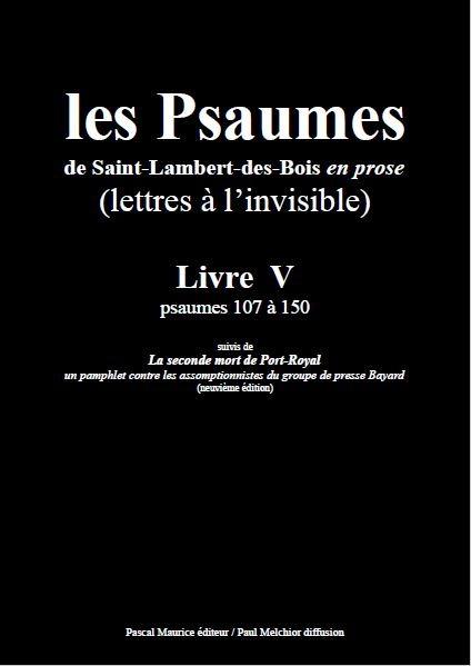 Les Psaumes de Saint-Lambert-des-Bois en prose