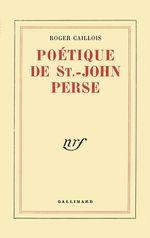 Vente Livre Numérique : Poétique de Saint-John Perse  - Roger Caillois
