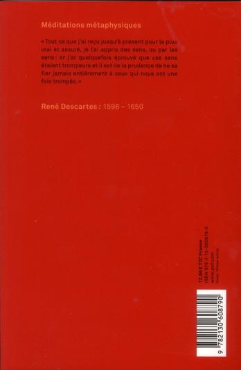 Méditations métaphysiques (8e édition)