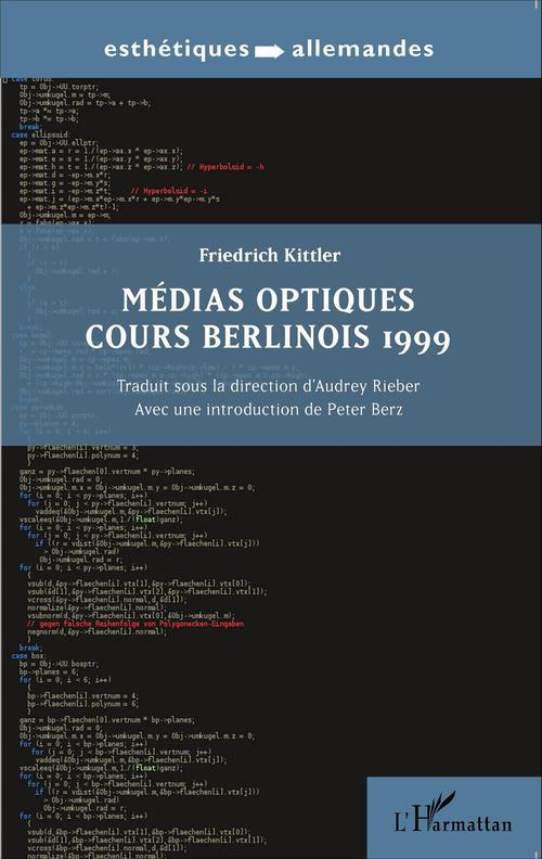 Médias optiques ; cours berlinois 1999