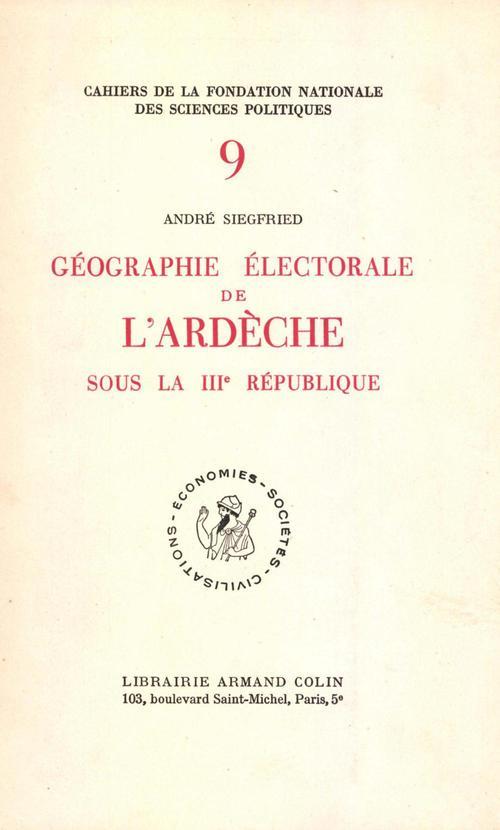 Géographie électorale de l'Ardèche sous la Troisième République
