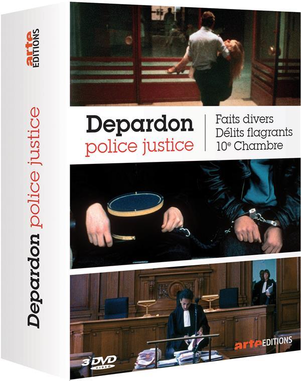 coffret Depardon police justice 3 films : faits divers ; délits flagrants ; 10e chambre