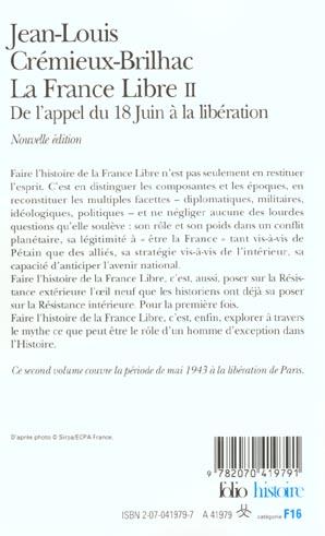 la france libre t.2 ; de l'appel du 18 juin à la libération