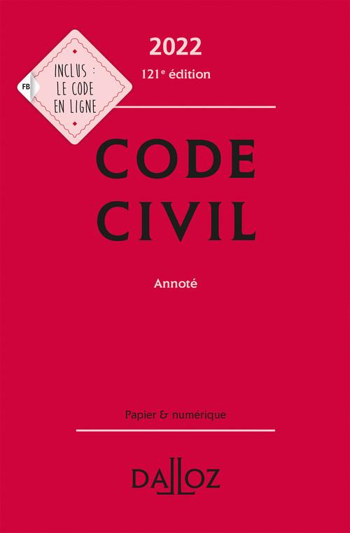 code civil annoté (édition 2022)