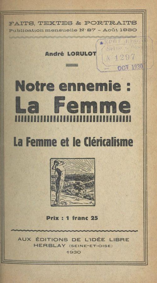Notre ennemie : la femme