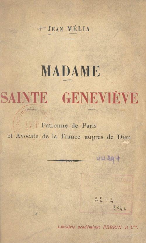 Madame Sainte Geneviève